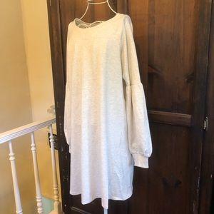 SOLD Francesca's Boho Oatmeal Sweatshirt Dress